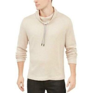 Alfani Men's Funnel-Neck Hooded Sweatshirt  Large